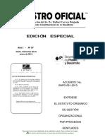 Estatuto Orgánico de Gestión Organizacional Por Procesos Senplades 2014