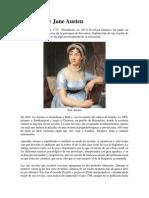 Biografía de Jane Austen