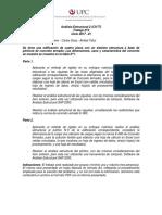Trabajo 2 Análisis Estructural 2 2017-01 Cs