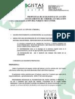 Propuestas de Ecologistas en Acción de Córdoba al Ayuntamiento Remodelación Parqu e Cruz Conde