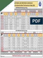 CTrail Hartford Line Proposed Weekday Schedule Poster (1)