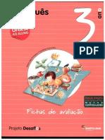 245373770 Fichas de Avaliacao Desafios Portugues 3ºAno