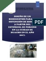 Proyecto Biogas de Estiercol de Porcino