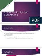 Peritonitis Bacteriana Espontánea