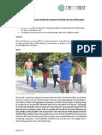 GVI Pez Maya Monthly Achievement Report October 2017