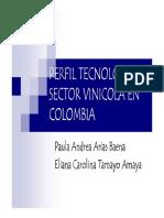 Perfil Tecnologico Sector Vinicola en Colombia Presentación