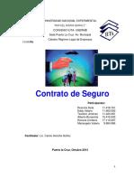 Trabajo de Contrato de Seguro (Regimen Legal)
