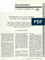 Weldability of a Low Carbon Mo-Nb X-70 Pipeline Steel
