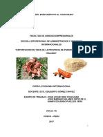 Exportacion de Polvo de Tara de La Provincia de Paruro Al Mercado Italiano