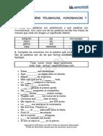 Ejercicio Palabras Polisemicas Monosemicas y Homonimas 261