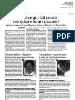 Article de La vie Quercynoise. Vocation d'un diacre qui a fait un séjour au Caillou Blanc