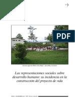 Las Representaciones Sociales Sobre Desarrollo Humano, Salazar, Betancur y Jaramillo