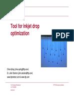 Tool for Inkjet Drop Op Tim Ization