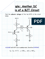 Example Another BJT Circuit Analysis