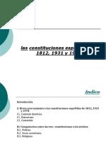 Las Constituciones de 1812, 1931 y 1978