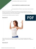 5 Exercícios Fáceis Para Melhorar a Postura Em Casa - Tua Saúde