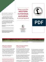 Western Cuyahoga Audubon Gift Program Trifold