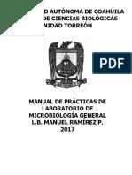 5.- Manual de Laboratorio Microbiología General Enero 2017
