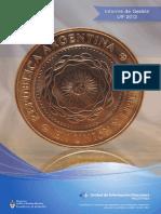 Informe Anual de Gestión 2012 - UIF Argentina
