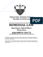 Quamto Remedial Law 2017
