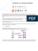 Propiedades Atómicas y Su Variación Periódica