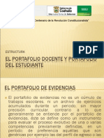 Estructura Portafolio Docente y Del Estudiante