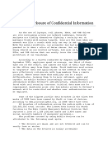Avoiding Disclosure of Confidential Information