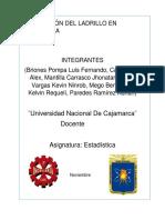 Trabajo de Estadística - Producción de Ladrillo en Cajamarca