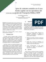 Analisis de principios en los contratos estatales caso Operadores del Sistema Integrado de Transporte Publico