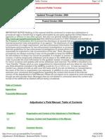 Adjudicator's Field Manual TOC