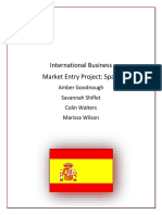 Market Entry Project- Spain
