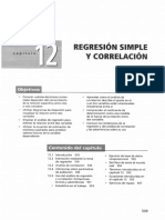 Regresión Simple y Correlación