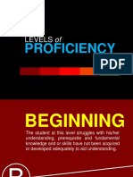 Levels of Proficiency