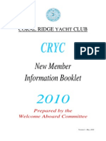 Welcome Aboard Committee - New Member Information Booklet - 2010