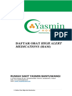 Daftar Obat High Alert Medications
