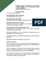 Discurso de Danilo Medina en La Conferencia Sobre Alianzas Para El Turismo Sostenible