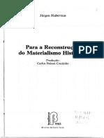 Habermas 1983 Para a Reconstrucao Do Materialismo Historico