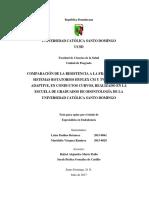 COMPARACIÓN DE LA RESISTENCIA A LA FRACTURA DE LOS SISTEMAS ROTATORIOS HYFLEX CM Y TWISTED FILE ADAPTIVE, EN CONDUCTOS CURVOS, REALIZADO EN LA ESCUELA DE GRADUADOS DE ODONTOLOGÍA DE LA UNIVERSIDAD CATÓLICA SANTO DOMINGO