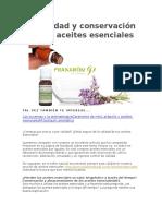 Conservación de Los Aceites Esenciales