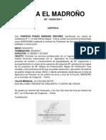 CERTIFICACION LABORAL RIOBLANCO