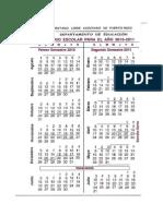 Calendario Escolar Departamento Educación Puerto Rico 2010-2011