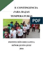 Plan de Contingencia de Bajas Temperaturas Rec