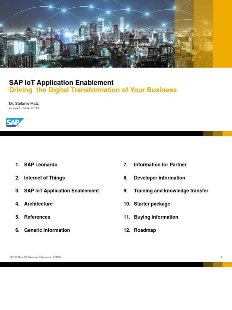 Application Enablement EXTERNAL V04 | Internet Of Things | Sap Se
