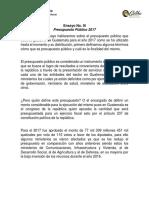 Presupuesto Público 2017