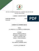 Gerencia General y Competencias