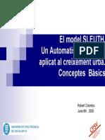El Model SLEUTH. Un Automatisme Cel_lular Aplicat Al Creixement Urba. Conceptes Basics - Robert Colombo