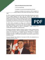 Biografía de Fernando Belaúnde Terry