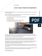 Polymer Modified Concrete -Types, Properties and Applications