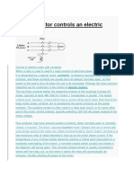 How Contactor Controls an Electric Motor