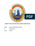 Aircraft Structure Practical Report